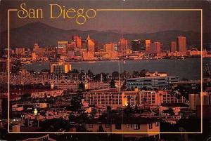 USA San Diego panorama general view at night, nuit, nacht Ca. 1993