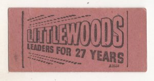 Littlewoods Football Pools Vintage Bus Advertising Rare Ticket