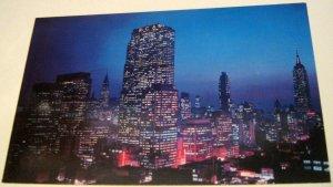 United States Night Falls on Midtown Manhattan NY-1 Dexter Press - unposted
