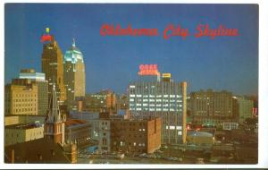 Oklahoma City, Skyline view of the Capital City, 1960s used