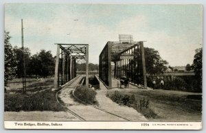 Bluffton IN~Truss Bridges~Ft Wayne & Wabash Valley Traction RR~Wagon~CU Williams