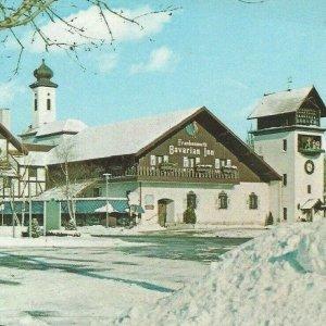 Frankenmuth Bavarian Inn 1974 Clock Tower I-75 Winter Snow Flint Birch Run