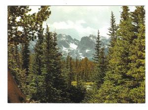 Colorado Continental Divide Rocky Mountains Vintage Postcard
