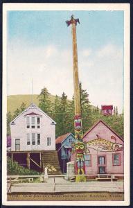 Chief Johnson Totem Pole Ketchikan Alaska unused c1920's