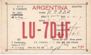 Argentina QSL Card w/Map 1955