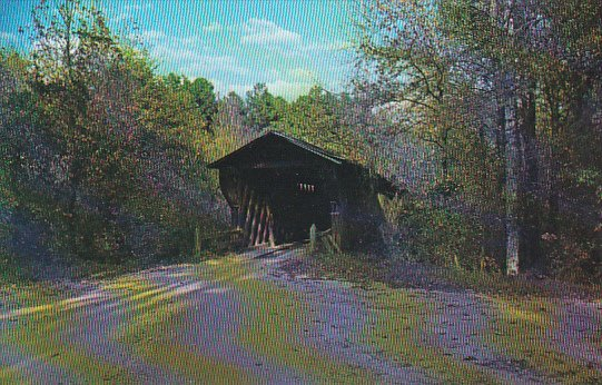 Meadows Mill Covered Bridge Lee County Alabama