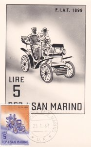 REP. di SAN MARINO, 1962, Maximum Card, F.I.A.T. 1899