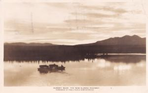 New Alaska HWY Highway Sunset Real Photo Canada Postcard