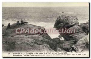 Postcard Old St Guenole Penmarch the Rock of Coix o 8 October 1870 the family...