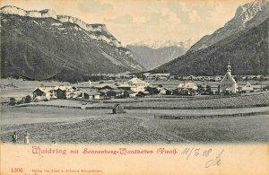 WAIDRING TIROL AUSTRIA~TOTALSICHT~mit SONNENBERG-WANDKETTEN~1908 PHOTO POSTCARD