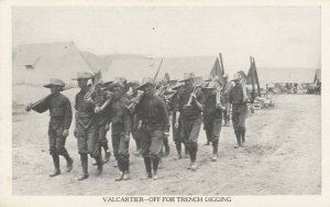VALCARTIER CAMP , Quebec, Canada, 00-10s ; Off for Trench Digging