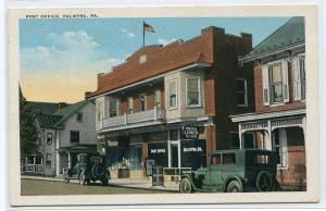 Post Office Cars Palmyra Pennsyvania 1920s postcard