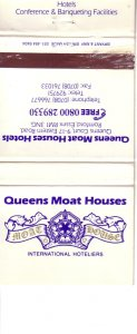 Matchbook Cover ! Queens Moat Houses Hotels, British Isles !