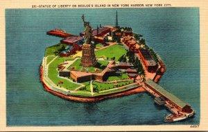 New York City Statue Of Liberty On Bedloe's IIsland