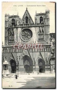 Lyon Old Postcard Cathedrale Saint Jean