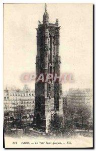 Postcard Old Paris La Tour Saint Jacques