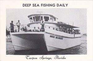 Florida Tarpon Springs Miss Milwaukee Deep Sea Fishing Boat