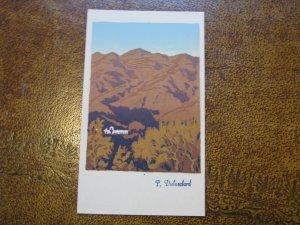 Along The Malibu CA Serigraph Hand-Made Postcard Sheehan