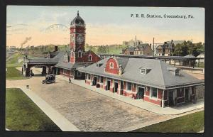 Penn Railroad Station High View Greensburg PA Used c1913