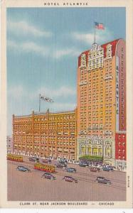 Illinois Chicago Hotel Atlantic Clark Street Near Jackson Boulevard Curteich