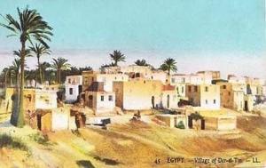 Der-El-Tin Cairo Egypt Village Life Egyptian Postcard