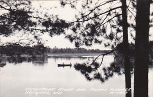 Namakagon River and Phipps Flowage Hayward Wisconsin Real Photo