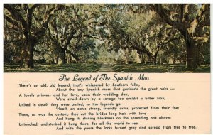 Postcard - The Legend Of The Spanish Moss In The South
