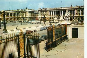 Postcard France Paris Hotel Gabriel Wrought Iron Gate Free Shipping  # 2379A