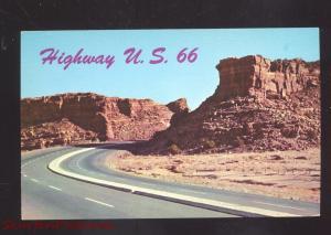 ALBUQUERQUE NEW MEXICO ROUTE 66 SCENIC HIGHWAY VINTAGE POSTCARD NM