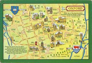 B97085 oxford map cartes geographiques   uk