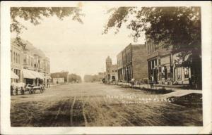 Riceville IA Main St.  c1910 Real Photo Postcard