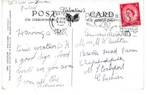 postcard FIRST AND LAST HOUSE AND LONGSHIPS LANDS END Valentine's Art Colour