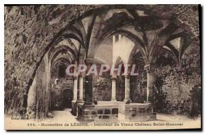 Postcard Old Monastery of Lerins Interieur du Vieux Chateau Saint Honorat
