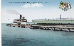 Boat Landing at New Pier & Coat of Arms, Crystal Beach, Ontario, Canada, 00-10s