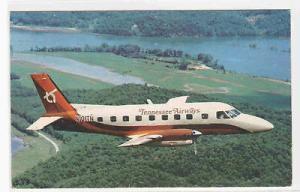 Bandeirante Prop Jet Plane Tennessee Airways Airline postcard