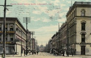 LOGANSPORT , Indiana , 1912 ; Fourth Street looking South