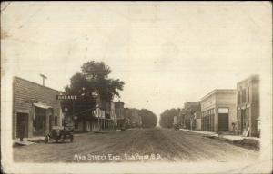 Elk Point SD Main Street East c1910 Real Photo Postcard