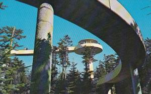 Observation Tower On Clingmans Dome Great Smoky Mountains National Park North...
