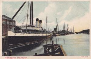 SS Brighton Ship at Newhaven Harbour Old Postcard