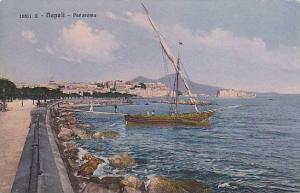Panorama, Sailboat, Napoli, Campania, Italy, 1900-1910s
