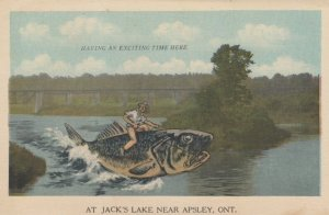 APSLEY , Ontario , Canada , 1930s ; Fishing Exaggeration #5