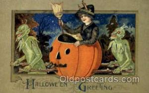 Artist Samual Schmucker Halloween Postcard Postcards