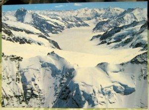 Switzerland Jungfraujoch Sphinx Pavillon Aletschgletscher - unposted