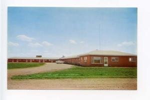 Howe IN Motel Old Cars Postcard