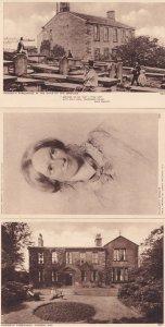 Haworth Parsonage Charlotte Bronte 3x Old Yorkshire Postcard s