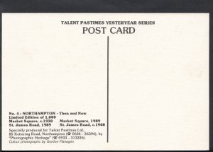 Northamptonshire Postcard - Northampton Then and Now  A8002