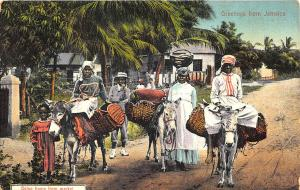 Jamaica Going Home From Market Postcard