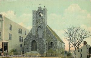 Amesbury MA~Marvelous Stone St. James Episcopal Church~Bell Atop Tower 1910