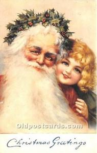 Santa Claus Postcard Old Vintage Christmas Post Card Reproduction Unused