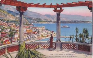 Monaco Vue sur Monte Carlo et le Cap Martin
